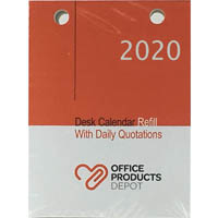OPD OFFICEWARE 2020 DESK CALENDAR REFILL TOP PUNCH