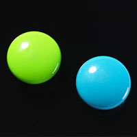 NAGA GLASSBOARD SUPER STRONG MAGNETIC BUTTONS 30MM BLUE/GREEN PACK 2