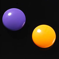 NAGA GLASSBOARD SUPER STRONG MAGNETIC BUTTONS 30MM PURPLE/ORANGE PACK 2