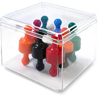 VISIONCHART SUPER STRONG GLASSBOARD MAGNETIC SKITTLES ASSORTED PACK 18