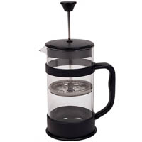 CONNOISSEUR COFFEE PLUNGER 8 CUP 1L 98 X 180MM BLACK/CLEAR