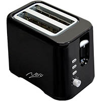 NERO TOASTER 2 SLICE BLACK