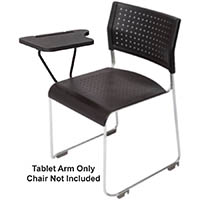 RAPIDLINE WIMBLEDON VISITORS CHAIR WRITING TABLET ARM 400 X 255MM