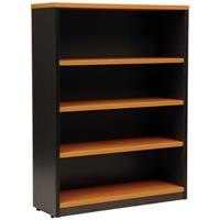 OXLEY 4 SHELF BOOKCASE 900 X 315 X 1200MM BEECH/IRONSTONE