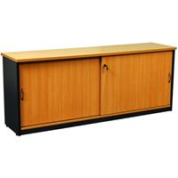 OXLEY CREDENZA 1800 X 450 X 730MM BEECH/IRONSTONE