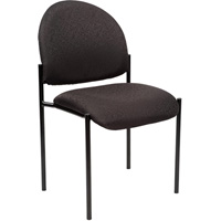 YS DESIGN STACKING VISITORS CHAIR MEDIUM BACK BLACK