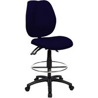 SABINA DRAFTING CHAIR HIGH BACK BLUE