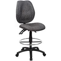 SABINA DRAFTING CHAIR HIGH BACK GREY