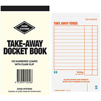 ZIONS TAKE-AWAY DOCKET BOOK 100 PAGE