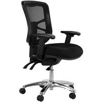 BURO METRO CHAIR HIGH BACK WITH ARMS BLACK