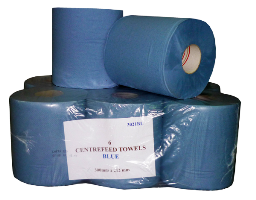 CAPRICE CENTREFEED TOWEL BLUE PERFORATED 210X300M 6PK